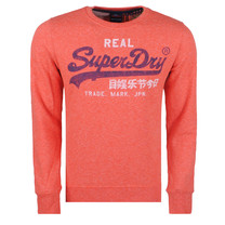 Superdry Superdry Men`s Crew Sweatshirt - Vintage Logo - Orange