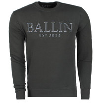 Ballin Ballin - Men`s Sweater with 3D relief print - Army green