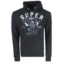 Superdry Superdry Men`s Hoodie - Blueprint - Black
