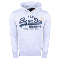 Superdry Superdry Men`s Hoodie - Vintage - Grey