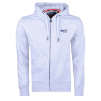 Superdry Superdry Men`s Zip Hoodie - Orange Label - White