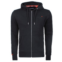 Superdry Superdry Men`s Zip Hoodie - Orange label - Black
