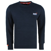 Superdry Superdry Men`s Crew Sweatshirt - Orange Label - Navy