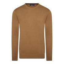 Ferlucci Ferlucci - Exclusive Men's Pullover - Round Neck - Fine Knitted - Yellow