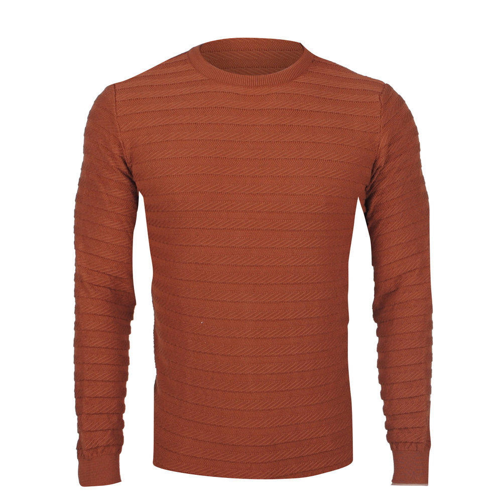 Ferlucci Ferlucci – Exlusive Men`s Pullover  - Vasco - Brown