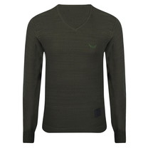 New Republic New Republic - Herren Pullover - Fein Gestrickt - Army