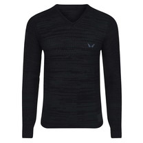 New Republic New Republic - Men's Pullover - Fine Knitted - Black