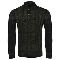 New Republic New Republic - Men's Cable Pullover - Heavy Knitted - Green