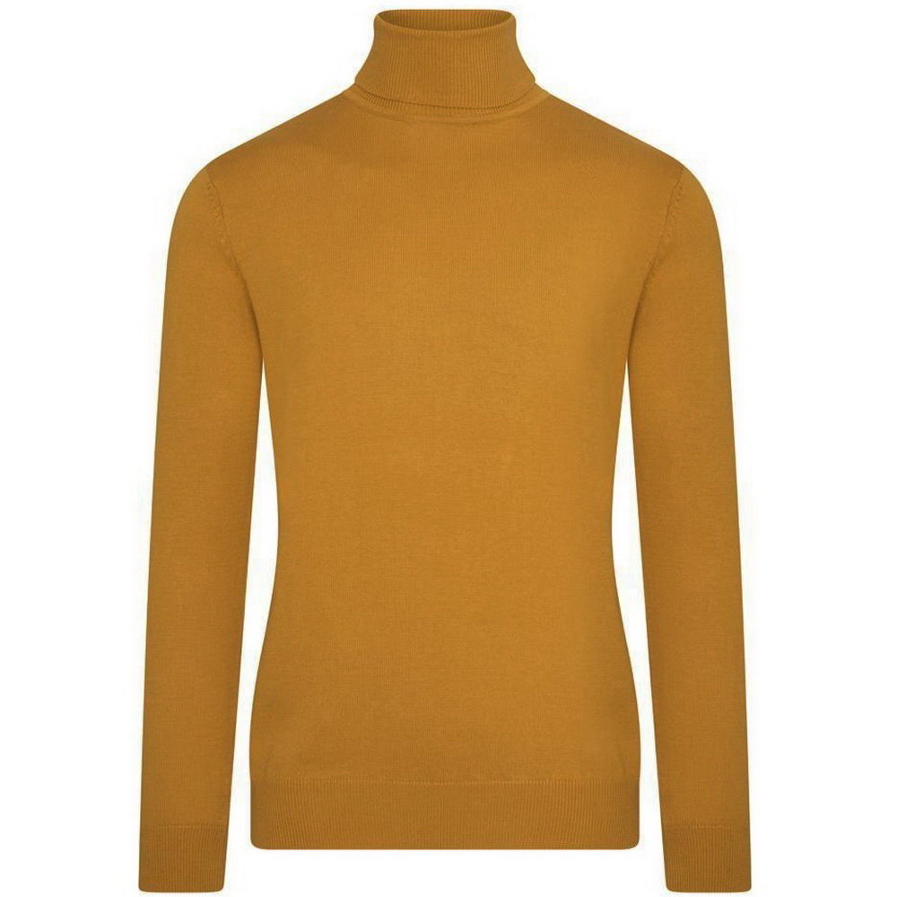 Ferlucci DioRise - Exlusive Men`s Pullover with Turtleneck - Fine Knitted - Yellow