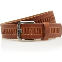 Timbelt Timbelt - Men's belt - 4 CM - 100% Leather - Model number 427 - Light Brown