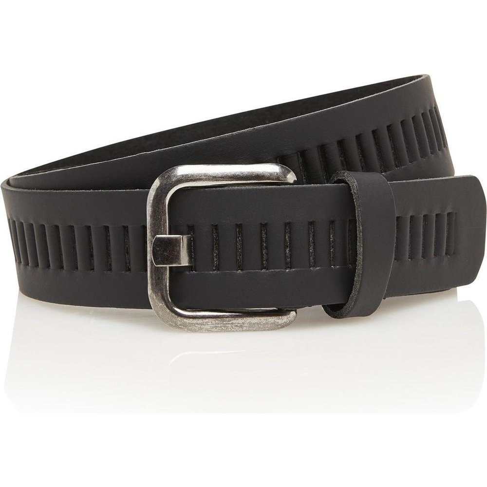 Timbelt Timbelt - Men's belt - 4 CM - 100% Leather - Model number 427 - Black
