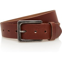 Timbelt Timbelt - Men's belt - 4 CM - 100% Leather - Model number 421 - Light Brown