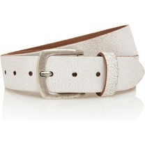 Timbelt Timbelt - Men's belt - Crack - 4 CM - 100% Leather - Model number 407 - White