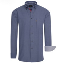Cappuccino Cappuccino - Men's Shirt – Chest Pocket – Allover Design – Navy