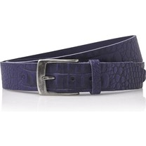 Timbelt Timbelt - Men's belt - Croco - 4 CM - 100% Leather - Model number 40628 - Blue
