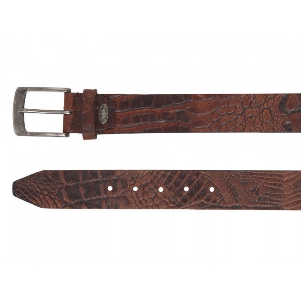 Timbelt Timbelt - Men's belt - Croco - 4 CM - 100% Leather - Model number 40628 - Brown