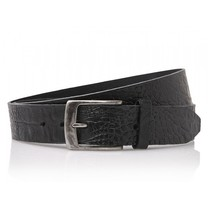 Timbelt Timbelt - Men's belt - Croco - 4 CM - 100% Leather - Model number 40628 - Black