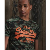 Superdry Superdry - Heren T-Shirt - Camo - Army