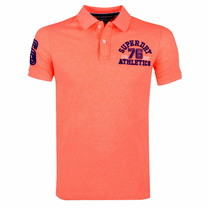 Superdry Superdry - Heren Polo - Superstate - Neon Oranje