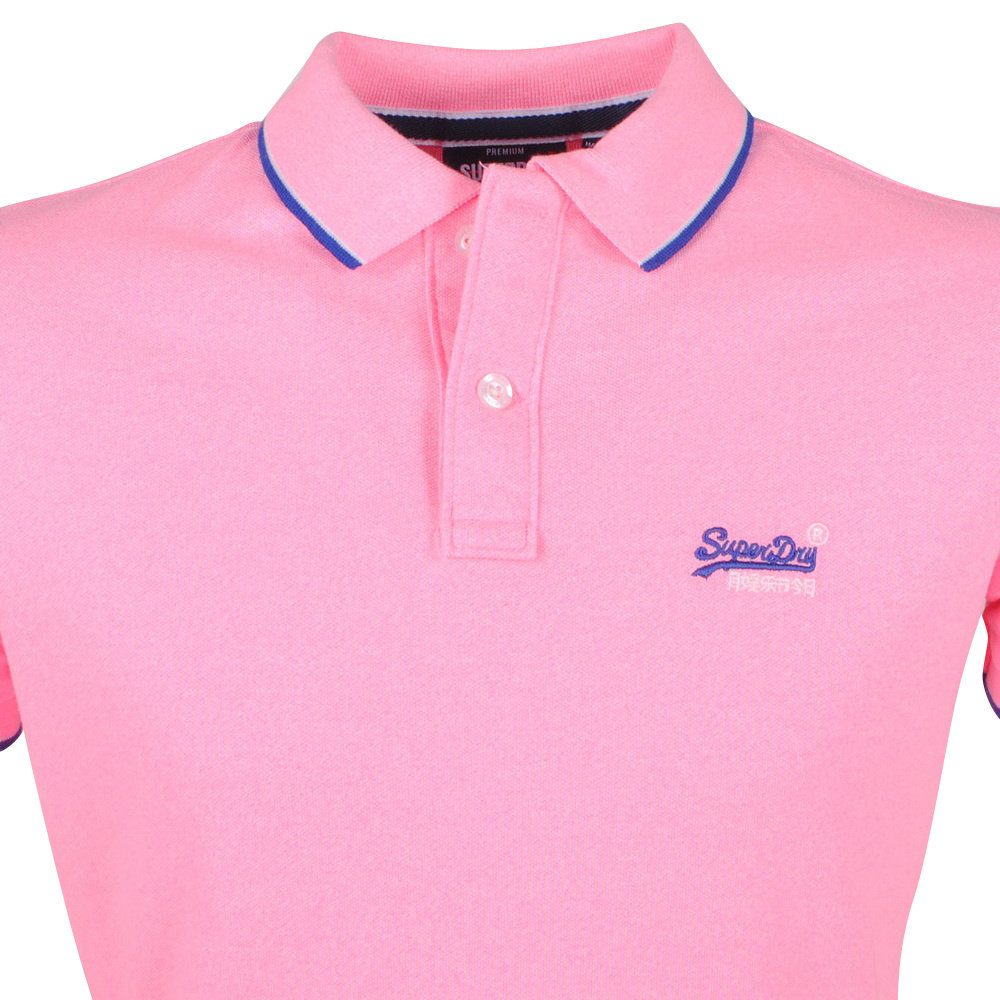 Superdry Superdry - Heren Polo - Pique - Neon Roze