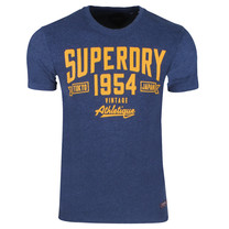 Superdry Superdry - Heren T-Shirt - One Colour - Navy