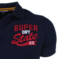 Superdry Superdry - Heren Polo - Superstate - Navy