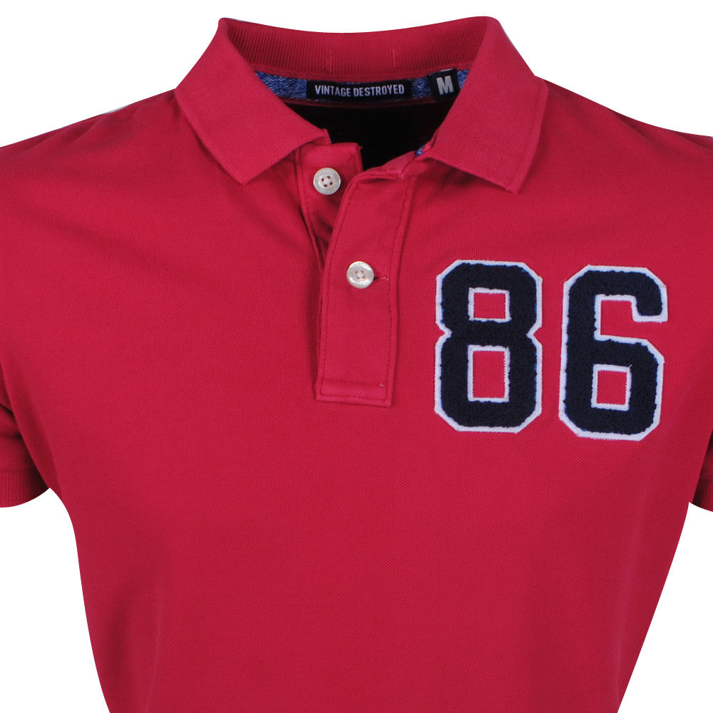 Superdry Superdry - Polo Homme - Destroy - Rouge