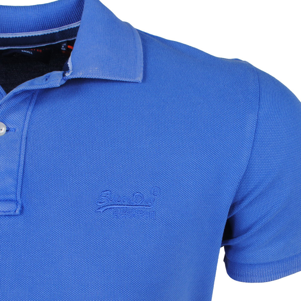 Superdry Superdry - Heren Polo - Destroy - Blauw