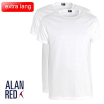 Alan Red Alan Red - Extra Lang T-Shirt - 2 Pack - Derby - Ronde Hals - Regular Fit - Wit