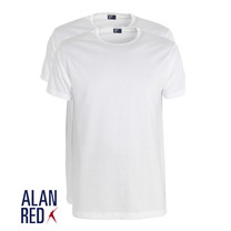 Alan Red Alan Red - T-Shirt - Ronde Hals - 2 Pack - Derby - Regular Fit - Wit