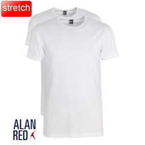 Alan Red Alan Red - T-Shirt - Ronde Hals - 2 Pack - Stretch - Ottawa - Slim Fit - Wit