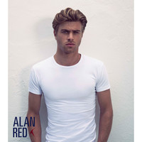 Alan Red Alan Red - T-shirt - Col rond - Paquet de 2 - Stretch - Ottawa - Coupe slim - Blanc