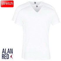 Alan Red Alan Red - T-Shirt - V-Hals - 2 Pack - Stretch - Oklahoma - Slim Fit - Wit