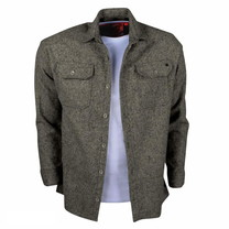 New Republic New Republic - Heren Overhemd - Overshirt - Flanel - Antraciet