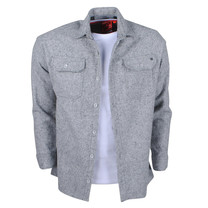 New Republic New Republic - Heren Overhemd - Overshirt - Flanel - Grijs