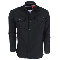 New Republic New Republic - Heren Overhemd - Overshirt - Flanel - Zwart