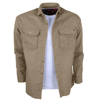 New Republic New Republic - Heren Overhemd - Overshirt - Flanel - Beige