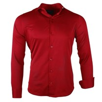 Ferlucci Ferlucci - Men's Shirt - Napoli - Slim Fit - Stretch - Red