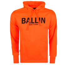 Ballin Ballin - Herren Hoodie - Sweat - Neon Orange - Schwarz
