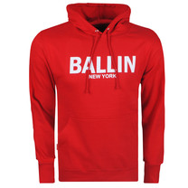 Ballin Ballin - Sweat à Capuche pour Homme - Sweat - Rouge - Blanc