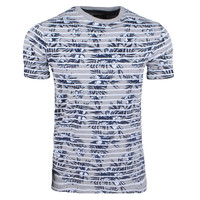 New Republic Threadbare - Heren T-Shirt - Gestreept - Tropical - Grijs