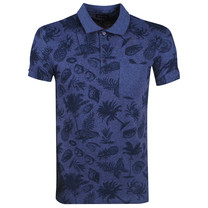 New Republic Earthbound - Men's Polo - Chest pocket - Tropical - Blue