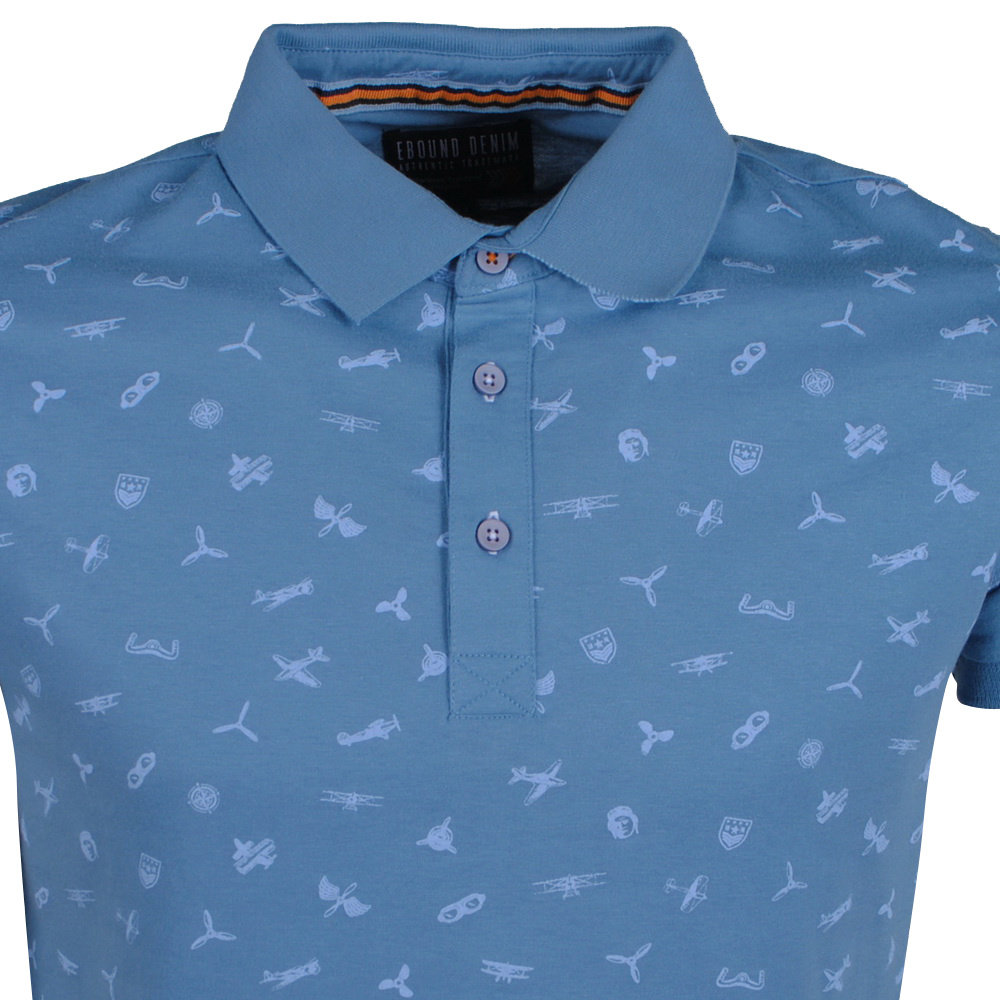 New Republic Earthbound - Heren Polo - Plane - Blauw