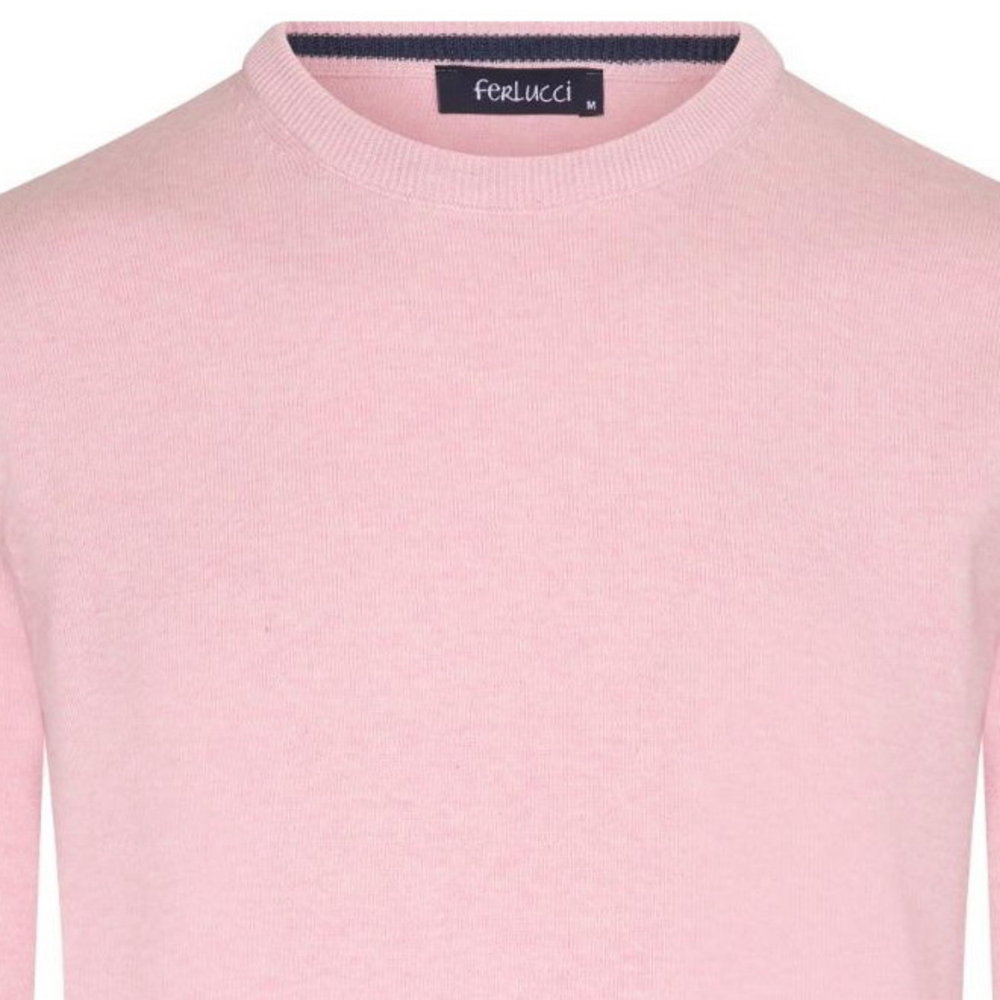 Ferlucci Ferlucci - Exclusif Pull homme - Col Rond - Rose