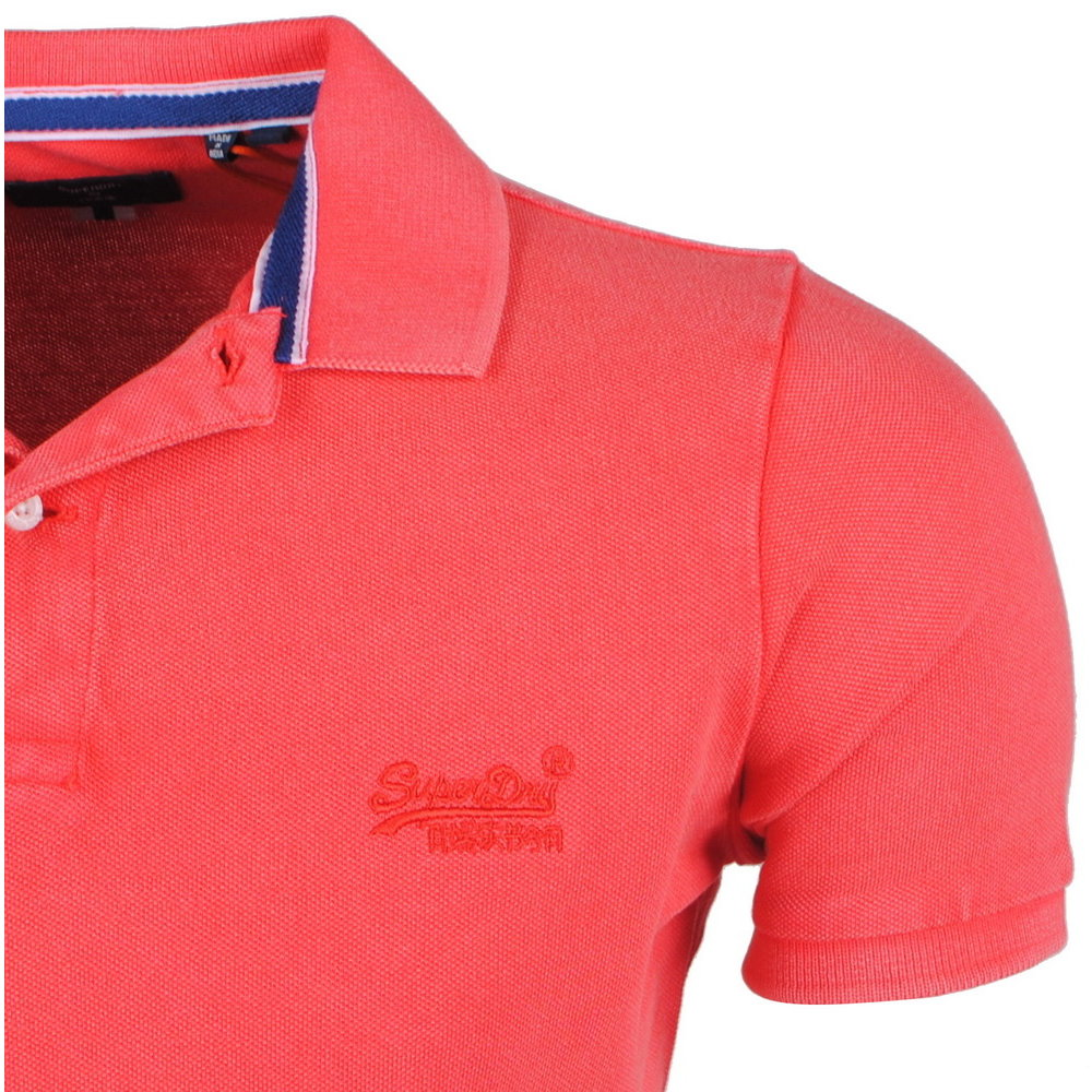 Superdry Superdry - Men's  Polo - Destroyed - Red