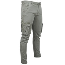 New Republic New Republic - Heren Chino - Cargo Model - Stretch - Army