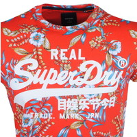Superdry Superdry - Heren T-Shirt - Palm - Rood