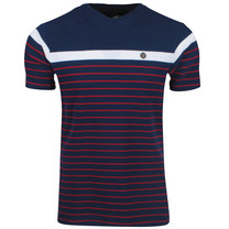 Twinlife  Twinlife - T-shirt pour Homme - Rayé - Navy