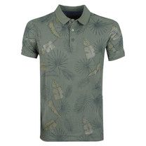 New Republic Refusion - Polo Homme - Tropical Design - Army