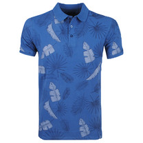 New Republic Refusion - Polo Homme - Tropical Design - Navy